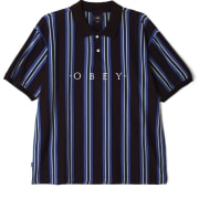 OBEY ASHBY POLO SS Black Multi