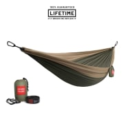 Grand Trunk Double Parachute Nylon Hammock with Straps Olive Green/Khaki