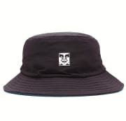 OBEY ICON REVERSIBLE BUCKET HAT BLACK MULTI O/S