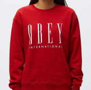 OBEY OBEY INTERNATIONAL NEW Scarlet