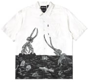 The Hundreds Fossil SS Woven Off White