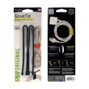 Nite Ize Gear Tie® Reusable Rubber Twist Tie™ 12 in. - 2 Pack  Black