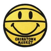 Chinatown Market Smiley Basketball Rug 4Ft YELLOW OS