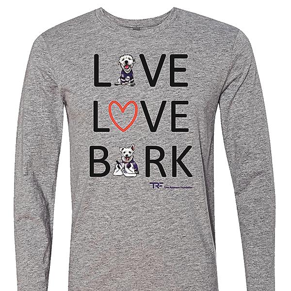 'Live, Love, Bark' T-shirt