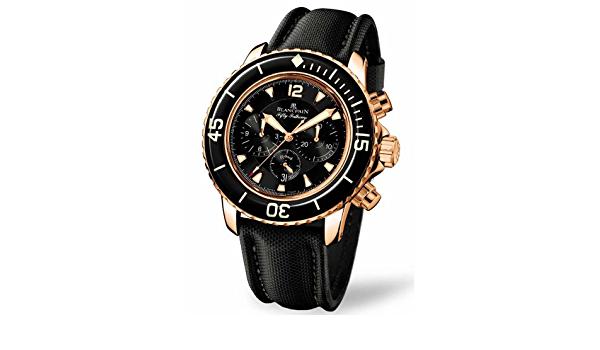 Blancpain Men's 5025.3630.52 Fifty Fathoms Tourbillon Rose Gold Watch by reviewstark