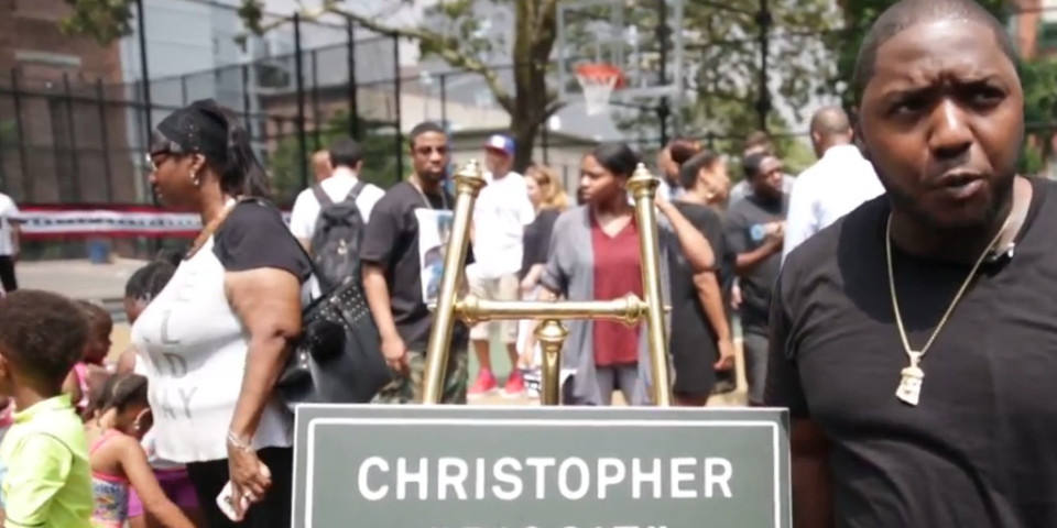 Christopher 'Biggie' Wallace Courts christened with special ceremony in his Brooklyn neighborhood