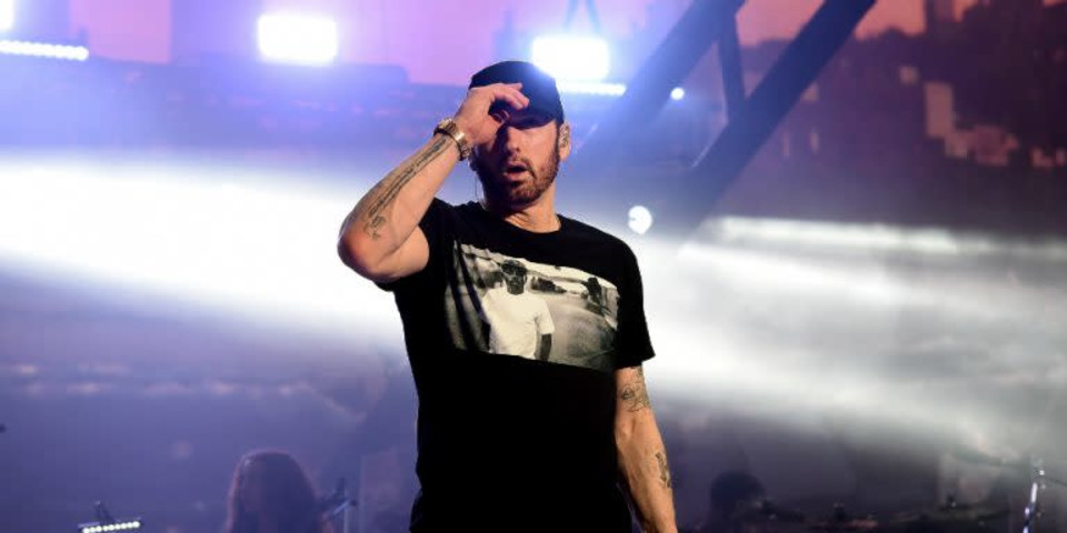 Eminem celebrates a decade of sobriety with fans