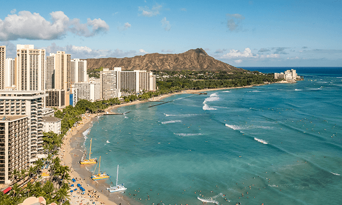 Most popular destination of 2019 is Honolulu, Hawaii.