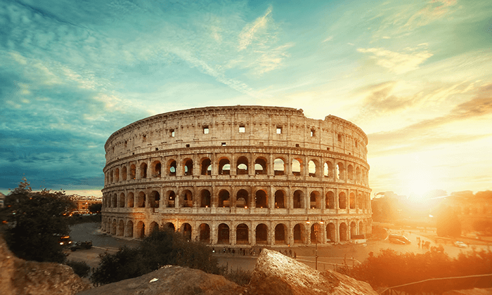 Tied for third, Rome, Italy is the third trending destination.