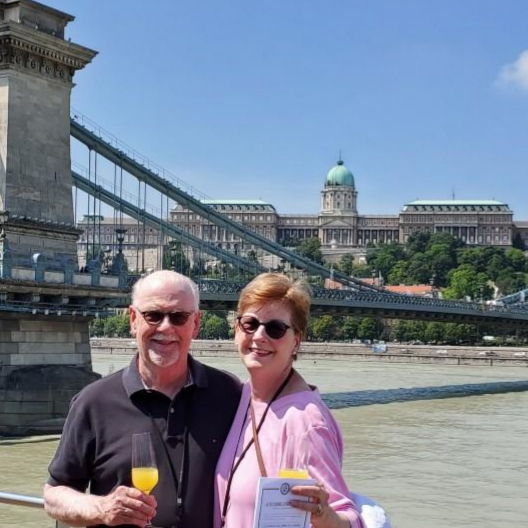 Leah & John taking in the sites of Budapest during their European adventure.