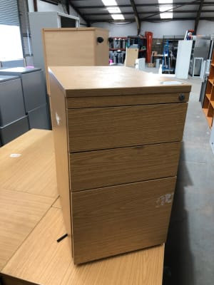 Desk height pedestal