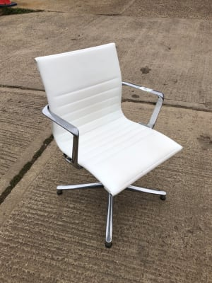 ICF Boardroom white chair