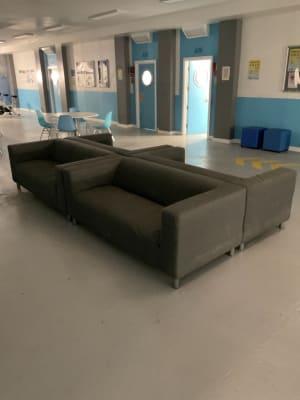 Ikea Klippan grey sofa