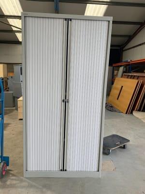 Bisley Tambour Cabinet - 2 shelves
