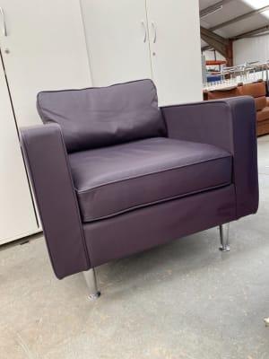 Orangebox Ogmore Armchair Purple leather