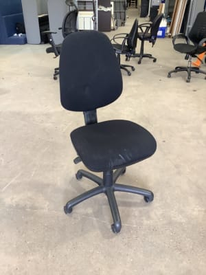Black office operator task chair