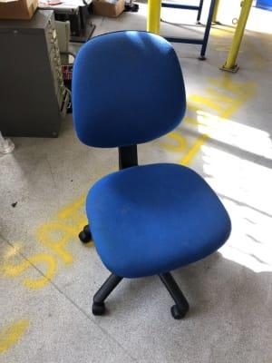 Blue fabric operator task chair
