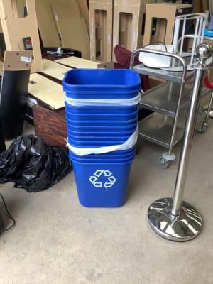 Blue recycling bins - 1 lot of 15
