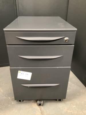 Grey metal Pedestal