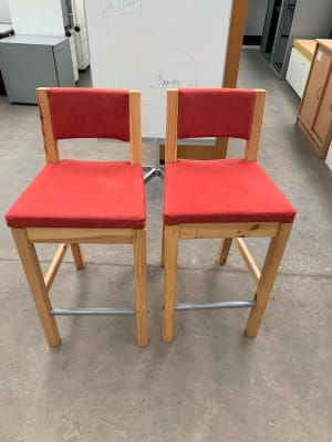 Pair of low Stools