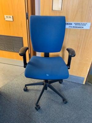 Dark blue quare back office chair