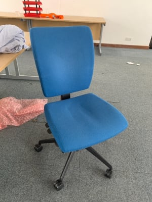 Blue square back office chair