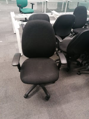 Black Padded Operator Chair