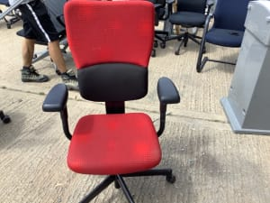 Red Steelcase task chair