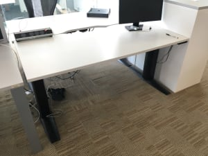 Electronic adjustable height desk