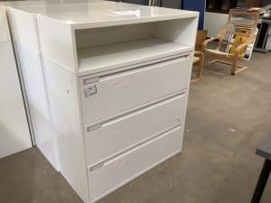 Large white metal filing cabinet