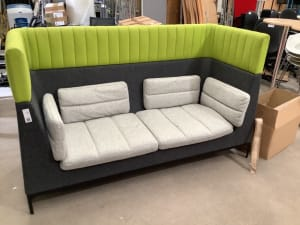 Green and Grey Booth Sofa