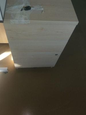 brown beech wood 3 drawer pedestal