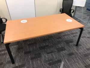 Haworth Meeting room table with power units