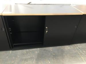 Sliding door tambour cabinet by Soundtex