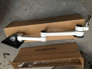 Monitor arms - no desk fixings or poles - ONE LOT of 2