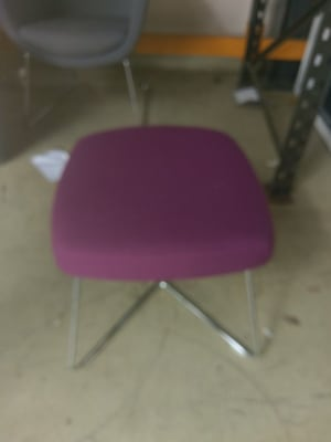 square purple and silver stool
