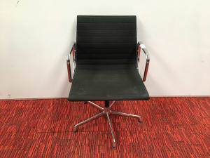 Original Eames EA 108 chair by ICF - Black Hopsack