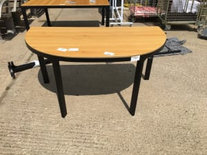 Semi circular table