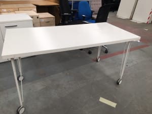 Ikea Vika Amon table on wheels