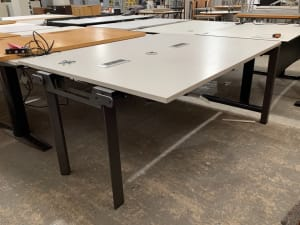 Half a large meeting table with power units
