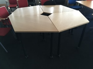 Quarter tables that make up a unit of 4