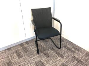 Haworth meeting conference chair dark mesh back