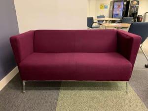 purple 2-seater sofas