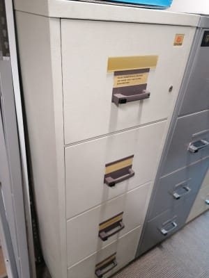 Filing cabinet- fire proof- very heavy