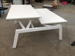 Adjustable height desks - Pod of 2 160cm