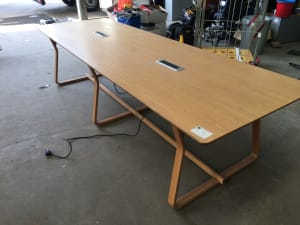 Meeting table with power units
