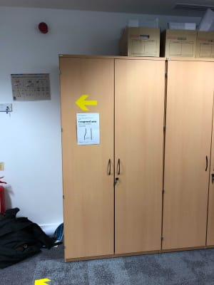 Large wardrobe cabinet metal shelves