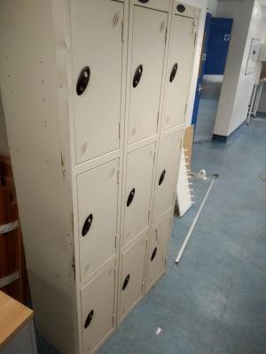 grey 3x3 locker