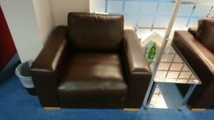 Leatherette sofa chair