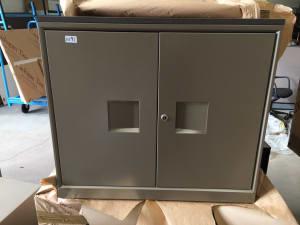 Designer cabinet wooden frame metal doors